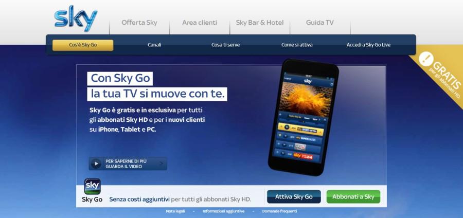 trasmettere sky go su chromecast iphone